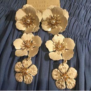 NWT Anthropologie floral earrings